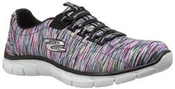 Skechers Empire-Game On Black/Multi Womens Fashion Sneaker S