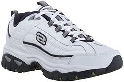 Skechers Men's Energy Afterburn Lace-Up Sneaker,White/Navy,1