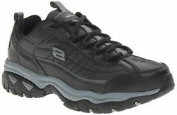 Skechers Sport Men's Energy Afterburn Lace-Up Sneaker,Black/