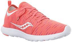 Saucony Women's Eros Sneaker, Coral Multi, 5.5 Medium US