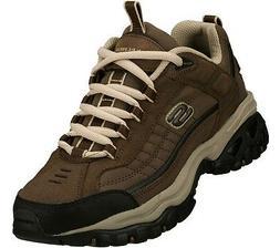 Skechers EW Wide Width Brown shoes Men's Sport Casual Soft L