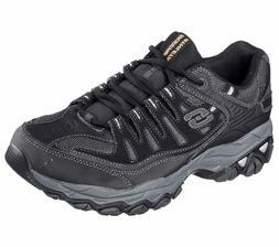 Skechers 4E Wide Width Black shoes Men's Memory Foam Leather