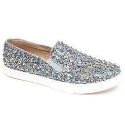 F1106 sneaker donna silver/light blue STEVE MADDEN glitter s