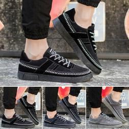 Fashion Men's Shoes Breathable Canvas Casual Sneakers Platfo