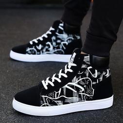 Fashion Men Shoes New Men Casual Shoes High Top <font><b>Sne