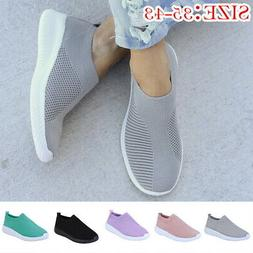 Summer Women's Walking Sock Shoes Lightweight Mesh Slip-on-