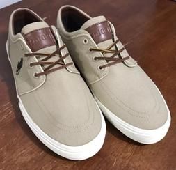 Polo Ralph Lauren Faxon Low Men's Canvas Sneakers Tan Leathe