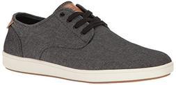 Steve Madden Men's Fenta Fashion Sneaker, Black Fabric, 11.5