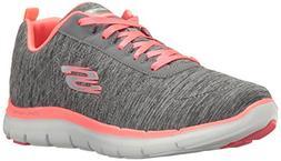 Skechers Sport Women's Flex Appeal 2.0 Fashion Sneaker, Gray