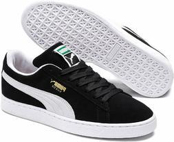 Free Shipping! PUMA Men's Suede Classic + Sneaker, Black/Whi