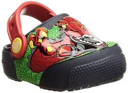 Crocs Kids' Fun Lab Light-Up Boys Graphic Clog, Robosaur Rex
