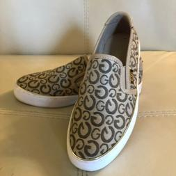 G by Guess Gollys Slip On Sneakers Taupe Women's size 6 M