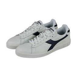 Diadora Game L Low Mens White Leather Low Top Lace Up Sneake