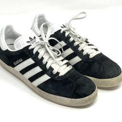 Adidas Gazelle Black Suede Sneaker Shoes Men's Sz 9.5 Indo