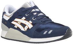 ASICS Gel Lyte III GS Running Shoe , Navy/White, 5.5 M US Bi
