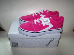 Airwalk girl size 3 HOT PINK tennis sneaker white laces RIED