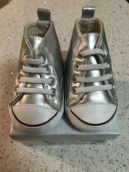 Girls/Infant AIRWALK Legacee Silver Hi-Top Sneakers SOFT Sli