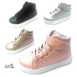 Big Kids Girls Fashion High Top Sneakers Shoes Size 11-3 New
