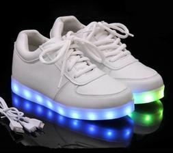 Girls or Boys LED Light up Luminous Sneakers for Kids