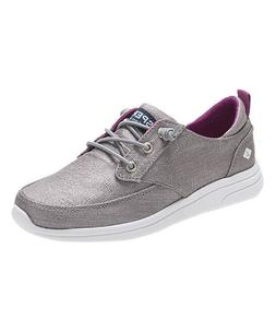 Sperry Girls Shoes Baycoast Sparkle Lace Up Sneakers Gray Ch