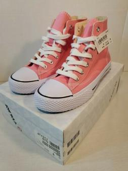 AIRWALK Girl's Size 3 Pink White Legacee High Top Lace Up