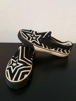 Airwalk | Girls Slip On Sneakers | Black/white stars |  Size