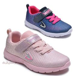 Girls Tennis Shoes Glitter Strap Athletic Running Sneakers Y