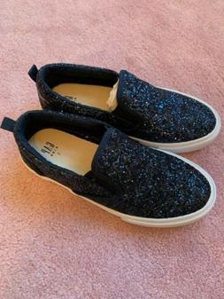 Gap Glitter Slip On Blue Sneakers Girls Size 1