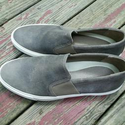 206 collective gray leather sneakers sz 13.5 D