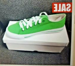 Green UNISEX Low Top Light Weight Sport Casual Canvas Sneake