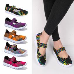 Handmade Women's Sneakers Breathable Slip-On Walking Shoes W