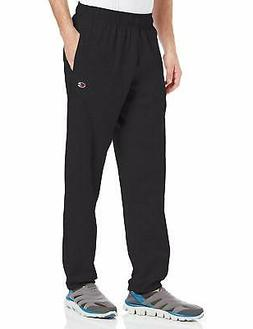 Hanes P7310 Mens Closed Bottom Jersey Pants, Black - Small