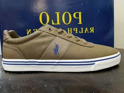 Polo Ralph Lauren Hanford Olive Green & Navy Canvas Sneakers