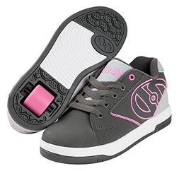 Heelys HE100041H Kid's Propel 2.0 Sneakers, Charcoal/Grey/Pi