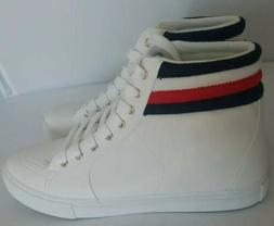Tommy Hilfiger High Top Sneakers For Women white  with TH co