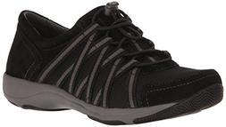Dansko Women's Honor Fashion Sneaker, Black/Black Suede, 39