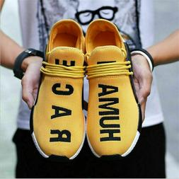 Human  Race Yellow Casual Shoes Men's Fashion Sneakers Man U