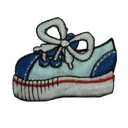 ID 7440 Blue Kids Sneaker Patch Fashion Tennis Shoe Embroide