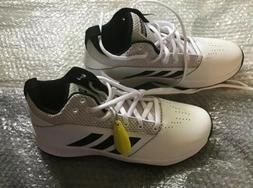 Adidas Ilation 2.0 Mens 9 1/2White Black Basketball Sneakers