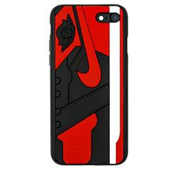iPhone Shoe Case, Bred 1s Official 3D Print Textured Shock A