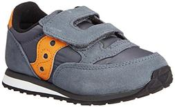 Saucony Jazz Hook & Loop Sneaker , Grey/Orange, 11 M US Litt