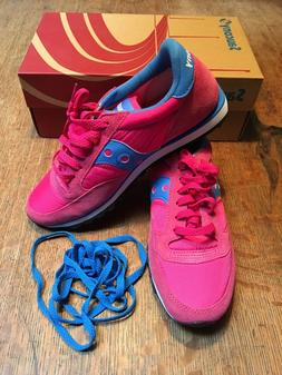 Saucony Jazz Low Pro Pink/Blue Athletic Sneakers Womens Size