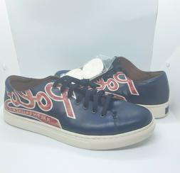 Polo Ralph Lauren Jermain Sneakers Size 12 Navy Logo Red Lea