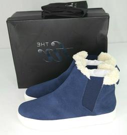 The Fix Joan High Top Sneakers Sz 10 Navy Blue Faux Shearlin