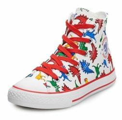 Converse Junior Boys Dinosaur High-Top Sneakers Dino Print S