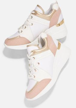 JustFab Kalani Wedge Sneaker Womens Size 9.5