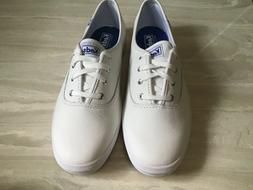 Keds Womens Champion White Leather Foam Sneakers Shoes 9 Med