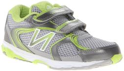 New Balance KG635 Running Shoe ,Silver/Green,8 W US Toddler