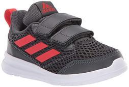 adidas Kids' Altarun, Grey/Active Red/Grey, 10K M US Toddler