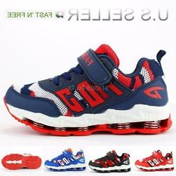 Kids Boy Tennis Sneakers Shoes Walking Running Casual Mesh U